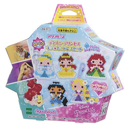 アクアビーズ ディズニープリンセス キラ☆もこ ドレスセット