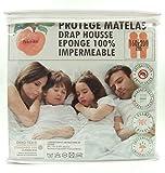 Protège Matelas/ Alèse-160x200cm Queen Size -par Peachskin -100% Imperméable - OEKOTEX - Respirant - Antibactérien -...