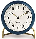 Arne Jacobsen Station - Reloj de Mesa (Aluminio, 11 cm), Color Verde Oscuro