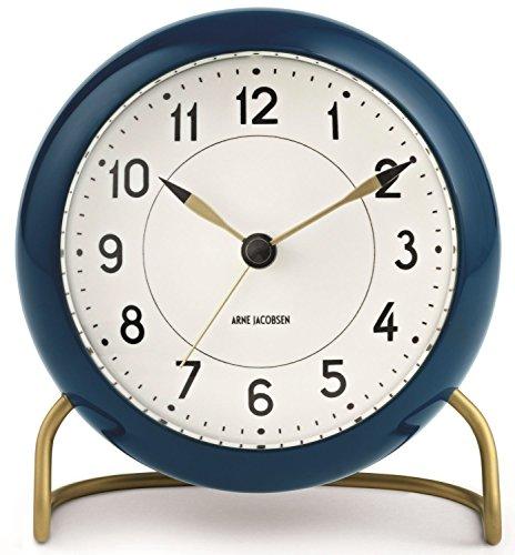 Arne Jacobsen Station - Reloj de Mesa (Aluminio, 11 cm), Color Verde...