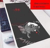 ゲーミングマウスパッド, 攻撃巨人ミカサ90x40マウスパッド3ミリメートル六角ゲーム大型アニメテーブルマットLiwellキーボード・パッド、J. (Color : P)
