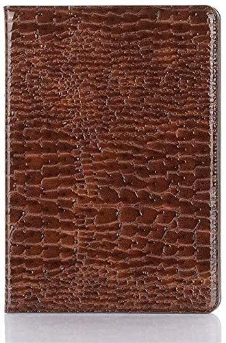 GYY Cajas de tabletas para iPad Air, Cuero de cocodrilo con Soporte de Tableta de Peso Ligero de Soporte Ligero Compatible con iPad Pro (Color : Brown)