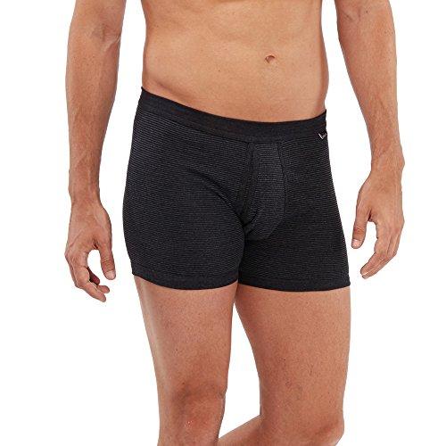 SCHÖLLER Herren Unterhose mit Eingriff 5er Pack l 146-320 l Größe 8 (XXL) l Farbe Schwarz-Melange