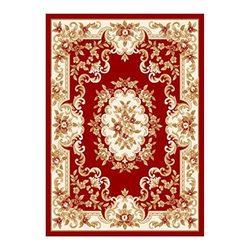 J. SCT -10 Européenne tapis de grande surface antidérapante durable tapis de haute qualité tapis turc designer PHC doux et confortable épaississement,Red
