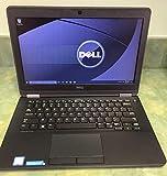 Dell Latitude E7270 Intel Core i5-6300U X2 2.4GHz 8GB 256GB SSD 12.5' Win10, Negro (renovado)
