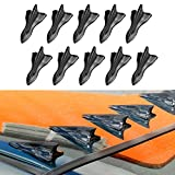 Alpha racing Air Vortex Generator Diffuser Shark Fin 10pcs Set Kit for Spoiler Roof Wing Pointed End Style