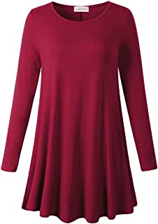 LARACE Long Sleeve Tunics Tops for Women Plus Size Loose Fit Flowy Clothing for Leggings