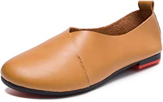 Kunsto Women's Genuine Leather Comfort Glove Shoes Ballet Flat
