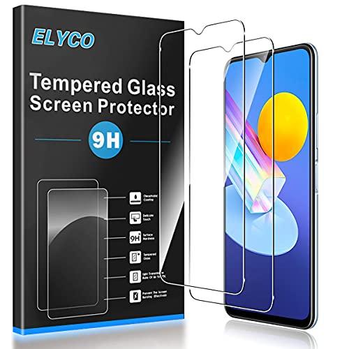 ELYCO Cristal Templado Protector de Pantalla para Vivo Y72 5G/Vivo Y51/OPPO A11X/Moto...