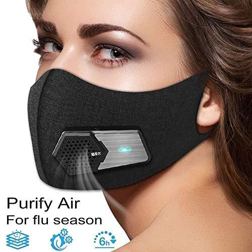 Smart électrique Visage Protecteur Bouclier Noir Anti Pollution...