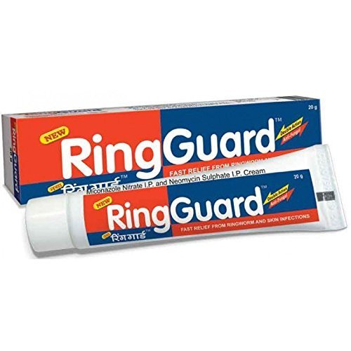 Ring Guard Ringworm Cream,Athlete Foot,Fungal-backterial Skin Infection,Eczema RING Guard (Pack of 2)