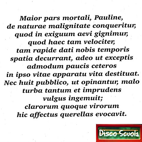 Maior pars mortali, Pauline… (De Brevitate Vitae I)