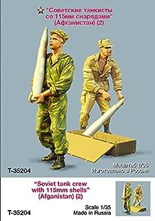 Tahk Tank 1:35 Soviet Tank Crew w/ 115mm Shells Afganistan 2 Figures Kit #T35204