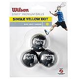 Wilson Staff Pallina da Squash, Confezione da 3 Pezzi, WRT618300, Giallo I/Nero