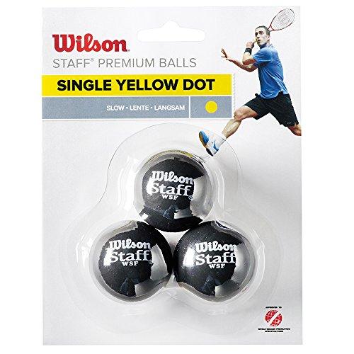 Wilson WRT618300 Balle de Squash, Staff, 3...