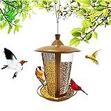 CHENPENG Comedero para pájaros para Colgar al Aire Libre, comedero automático de Metal para pájaros Silvestres, para pájaros, Bebedero para pájaros Silvestres como Ideas de Regalo