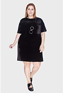 Vestido Veludo Camisetão Plus Size