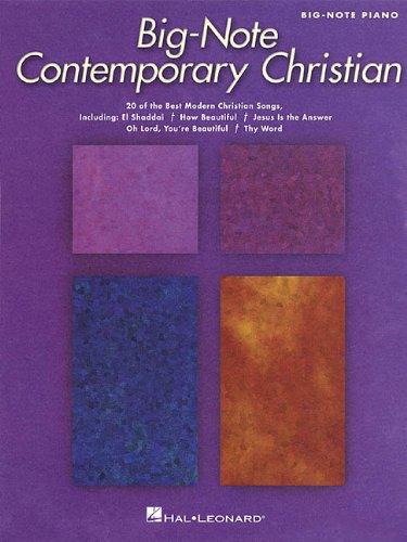 Contemporary Christian: Big-Note Piano