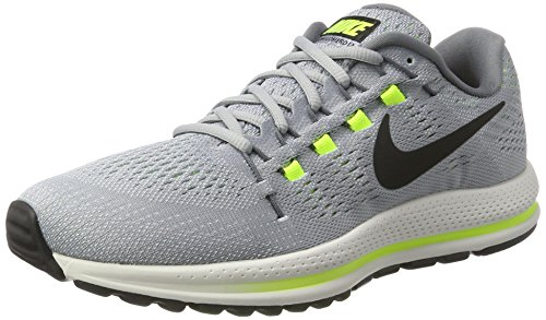 Nike Air Zoom Vomero 12, Scarpe da Corsa Uomo, Grigio (Wolf Grey/Black/Cool Grey/Pure Platinum 002),...