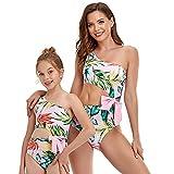 Ousyaah Madre e Hija Bikinis Cuello Trajes de Baño Halter Una Pieza Traje de Baño Set Bikini de Playa Sexy para Mujer Niña Bañadores