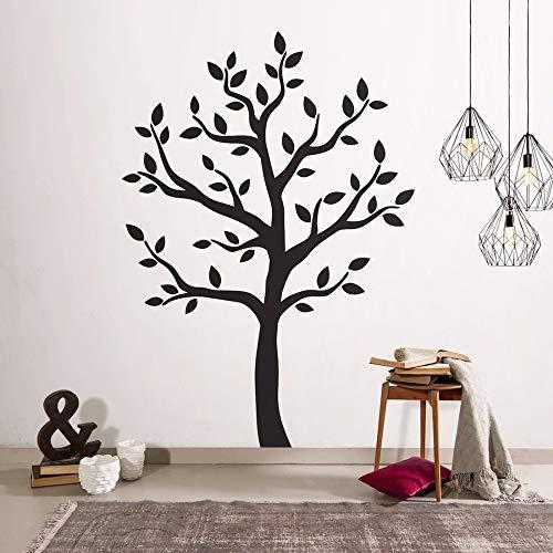 Calcomanía de vinilo para pared con diseño de árbol negro grande calcomanía de pared extraíble para restaurante salón decoración de pared póster artístico 42 * 60 cm