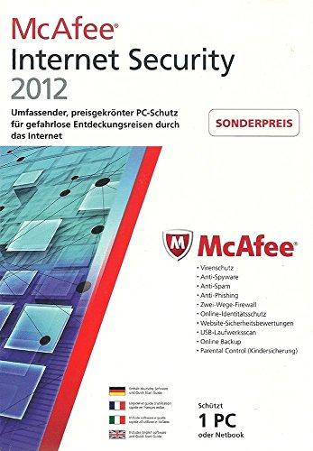 McAfee Internet Security 2012 - 1 User (1 Jahr) [Import allemand]