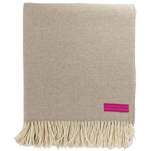 Southampton Home - Manta de lana de merino (arena)