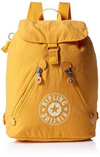 Kipling - Fundamental Nc, Mochilas Mujer, Amarillo (Lively Yellow), 16.5x42x42 cm (B x H T)