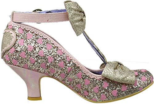 Irregular Choice Total Freedom, Escarpins Salomé Femme, (Gold F), 6.5 EU