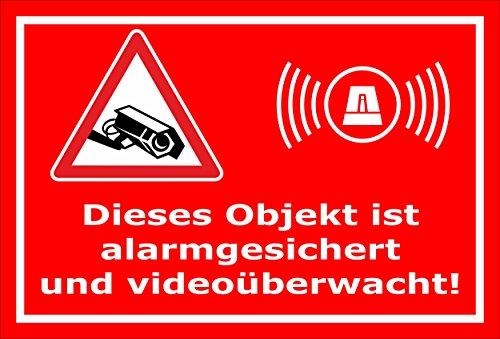 Melis Folienwerkstatt Aufkleber – Objekt Video-überwacht - 15x10cm – S00348-017-D 20 VAR