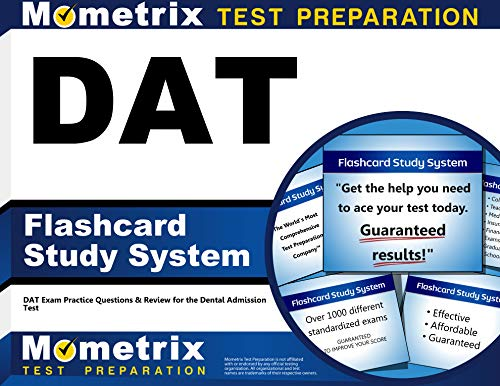DAT Flashcard Study System: DAT Exam Practice Questions & Review for the Dental Admission Test (Card