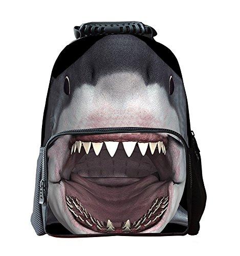 EssVita Ragazzi Ragazze casual zaino 3D Animals Stampa zaino scuola borsa del portatile Daypack escursionismo (Cranio)