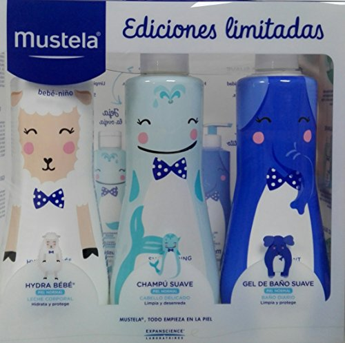 PACK MUSTELA EDICION LIMITADA (HYDRA BEBE 500ML+CHAMPU 500ML+GEL500ML)