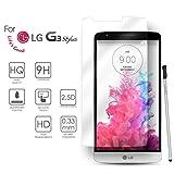 LG G3 Stylus Cristal Protector de pantalla, eProte® Vidrio Templado para LG G3 Stylus, 5.5 pulgadas - Dureza del vidrio 9H, Anti-rayado, anti-huellas dactilares, Fácil de limpiar, HD