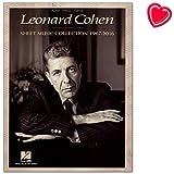 Leonard Cohen: Sheet Music Collection (1967-2016) – Carnet de musique pour piano, chant, guitare avec pince à partitions en forme de cœur multicolore