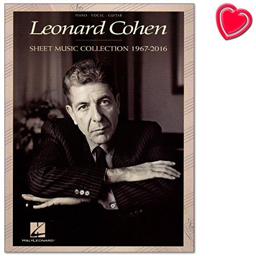 Leonard Cohen: Sheet Music Collection (1967-2016) - Album-Songbuch für Klavier, Gesang, Gitarre mit bunter herzförmiger Notenklammer
