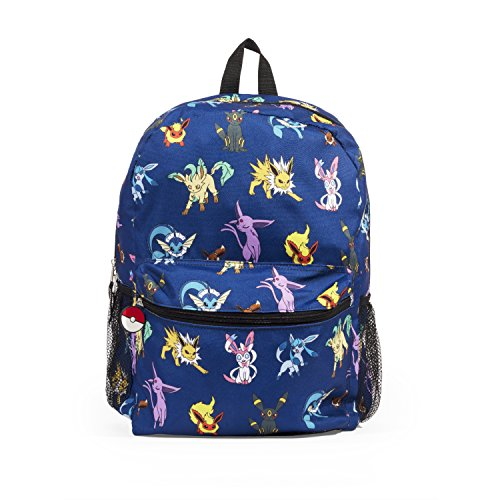 Pokemon Evee Evolution 16' Blue Backpack