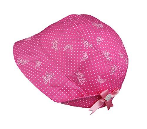 Galeja Mädchenhut Sommermütze Sonnenhut 100% Baumwolle verdeckte Bindebändchen Pink Gr. 50 Mädchenmütze