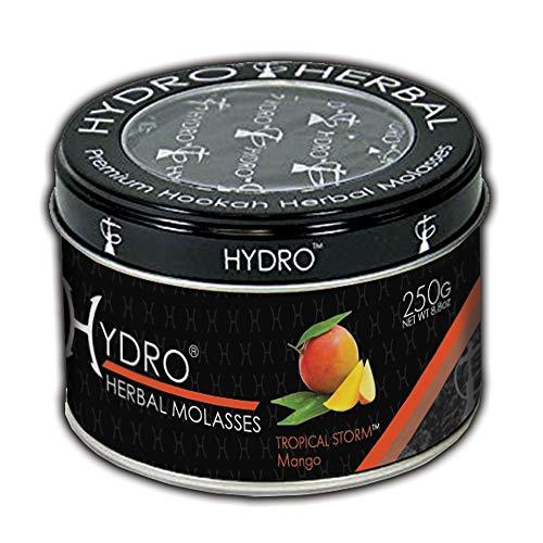 Hydro Herbal Hookah Shisha 250g Can - Tropical Storm - Mango - [Premium Flavor - Tobacco Free, Nicotine Free] Tropical Storm
