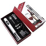 LXDDP Abrebotellas eléctrico, abrebotellas Recargable, abrebotellas automático 4 en 1 con sacacorchos, Cortador Aluminio, Tapones vacío y Boquilla para Verter Vino