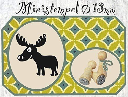 Zwergenstempel Elch, Ø13mm, fast 400 lustige Stempel-Motive im Shop