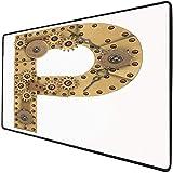 Mouse Pad Gaming Funcional Letra p Alfombrilla de ratón gruesa impermeable para escritorio Tema de...