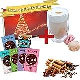 David Rio Chai Latte Tee Geschenkset mit 5 verschiedenen Portionsbeuteln und Gratis Doppelwandigem...