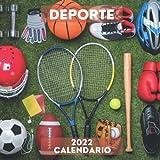 2022 Calendario Deporte: Enero 2022 - Diciembre 2022 Cuadrado Libro de Fotos Planificador Mensual Calendario de regalo para los amantes del Deporte I Con los días festivos de EE.UU.