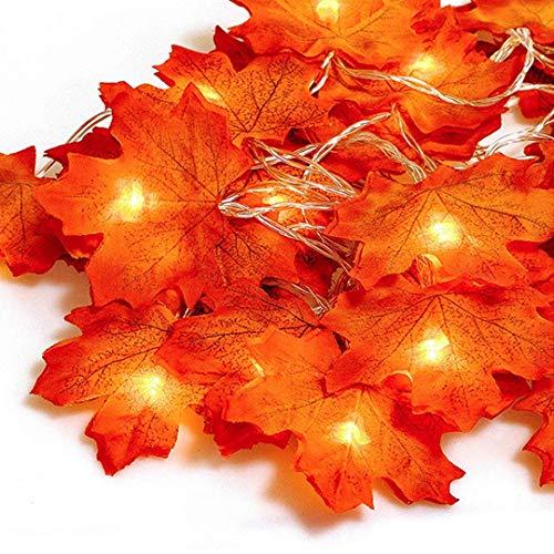 Herbst lichterkette, Ainkedin Herbst Blättergirlande,lichterkette,20 Ahornblatt Licht,Länge 3 Meter Benutzt für herbstdeko und weihnachtsdeko halloween deko party deko tischdeko