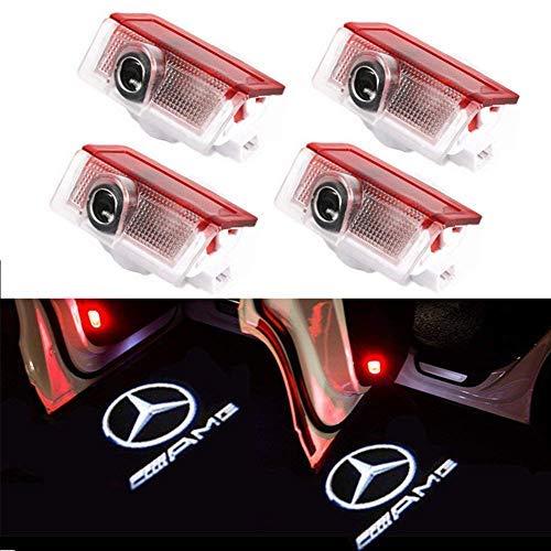 BSVLIA Autotür Logo Licht, Auto Geist Schatten Projektor Licht Logo Tür Lampe für W166 W212 W246 W176 W205 X164 A B C E Class GL GLC GLE GLS GLA (4 pack)