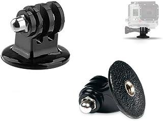 mazetechno tripod montaj adaptörü GoPro kamera için Hero 5 4 gümüş siyah Session 3 3 2 HD, ACTION Camcorder Xiaomi Yi, SJCAM, SJ4000, sj5000 Tek ayaklı yedek aksesuar Head (2) Tripod montaj adaptörü Siyah MT-002