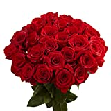 GlobalRose 100 Red Roses- Lovely Fresh Flowers- Next Day Delivery by Thursday July 30