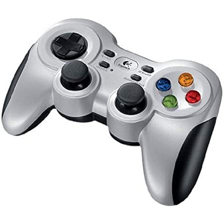 Logitech F710 Wireless Gamepad, 2,4 GHz Wireless con Nano-ricevitore USB, Controller Dual Vibration Feedback, 4 Switch D-Pad, PC, Grigio/Nero