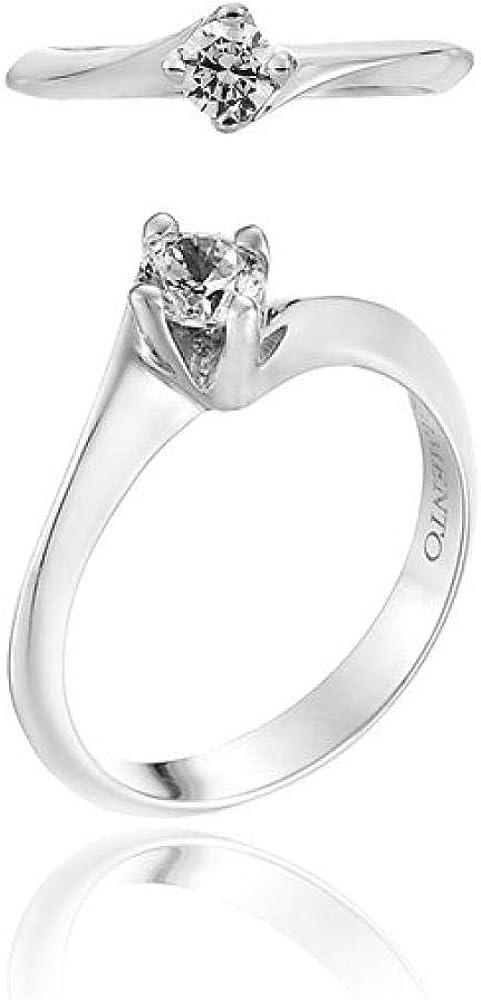 Chimento,anello per donna,in oro bianco 18 kt(3,2 gr)con 1 diamante 0,30 ct 1A5A0304G5140